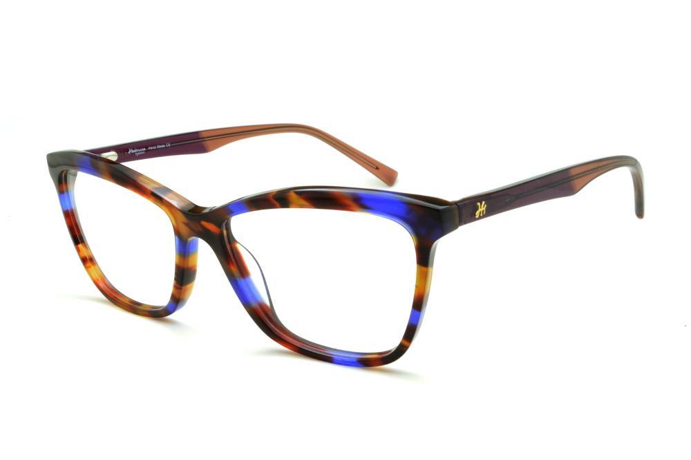 6f7af3dec Óculos Ana Hickmann HI6013 preto/caramelo/azul e haste vinho/marrom