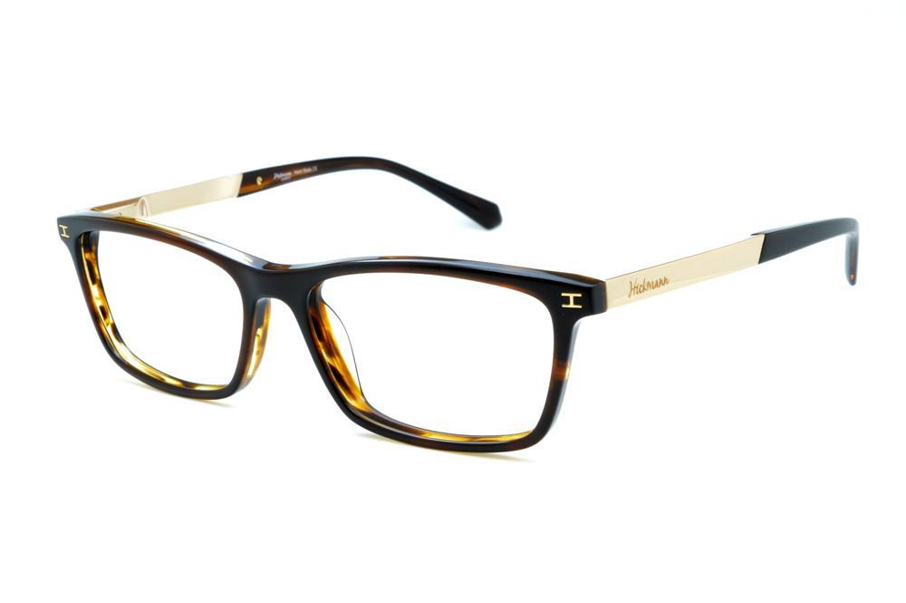 3cd4bb1ba95ca Óculos Ana Hickmann HI6015 marrom e bege haste metal dourada