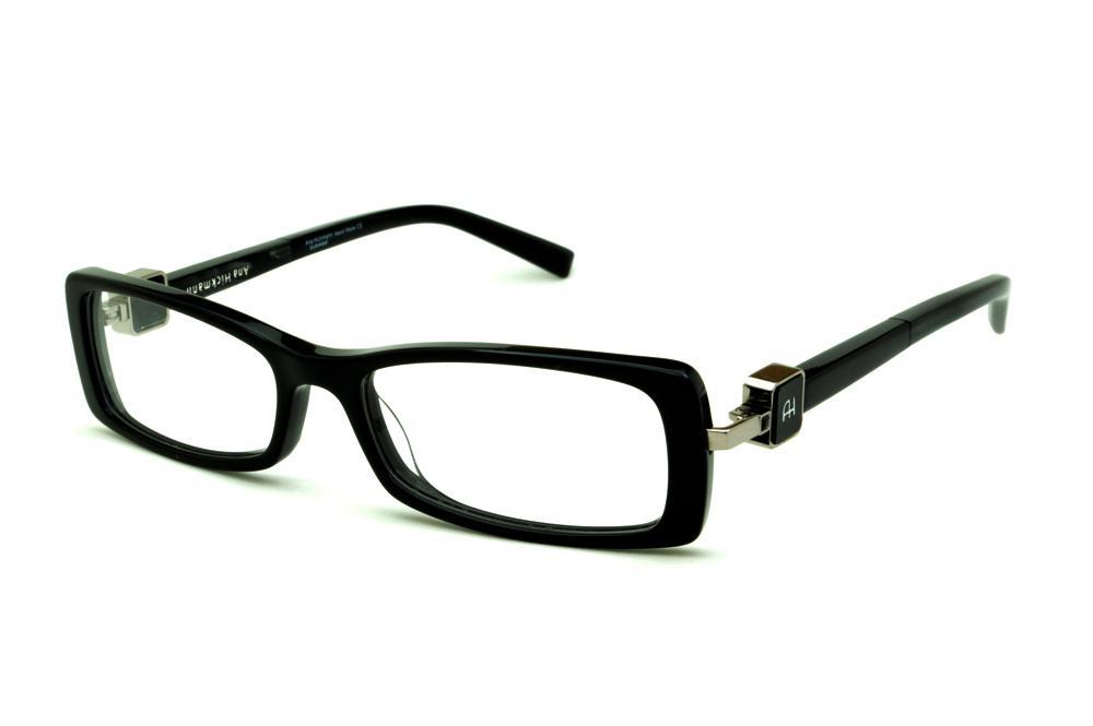 Óculos Ana Hickmann AH6229 acetato preto haste giratória d5b2feed0b