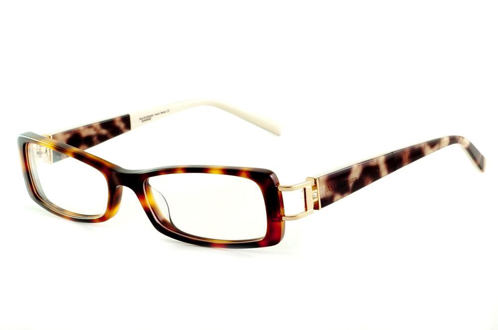 93aeec2a25d8b Óculos Ana Hickmann AH6127N tartaruga haste branca onça