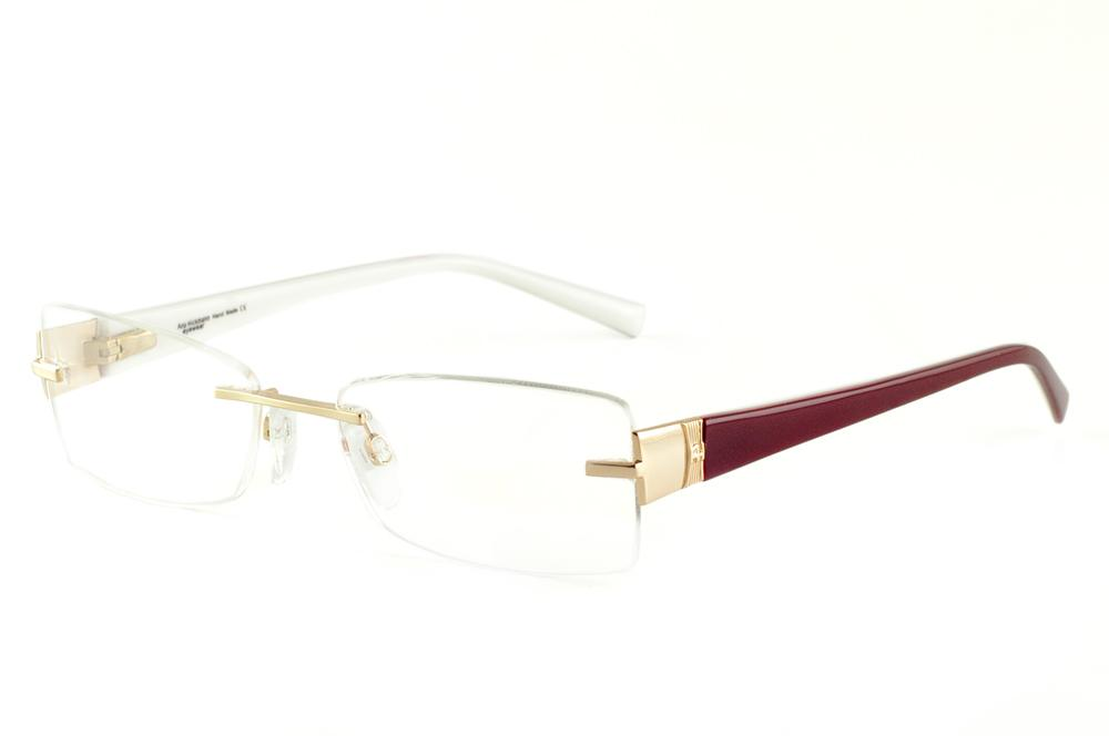9445faff4711d Óculos Ana Hickmann AH1239 dourado haste vinho branco