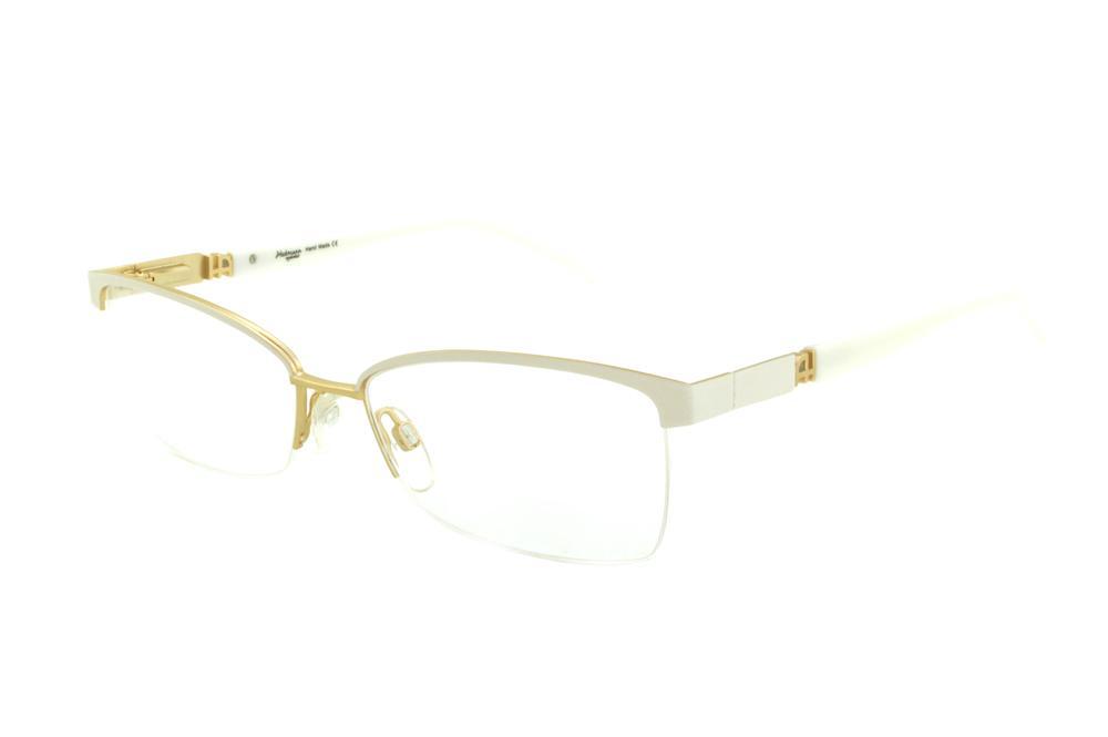 5f98ef5a237f6 Óculos Ana Hickmann AH1237 dourado e branco fio de nylon
