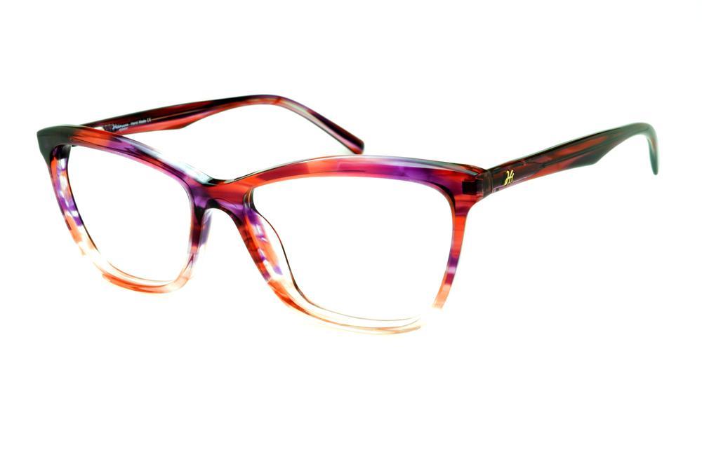 0611aa0fa3481 Óculos Ana Hickmann HI6013 efeito estampa lilás, vinho e roxo em acetato