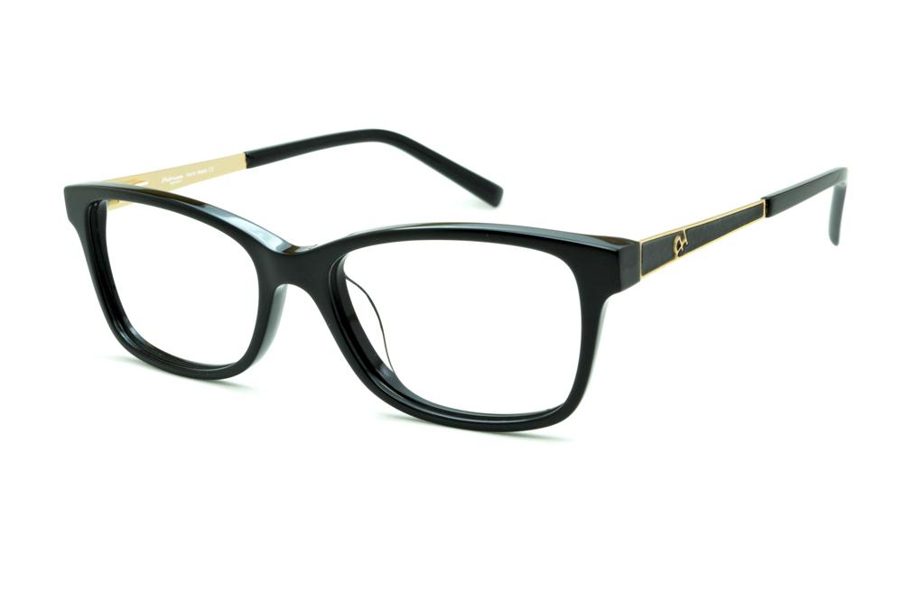 177ba47edd386 Óculos Ana Hickmann AH6217 preto haste dourada e preta