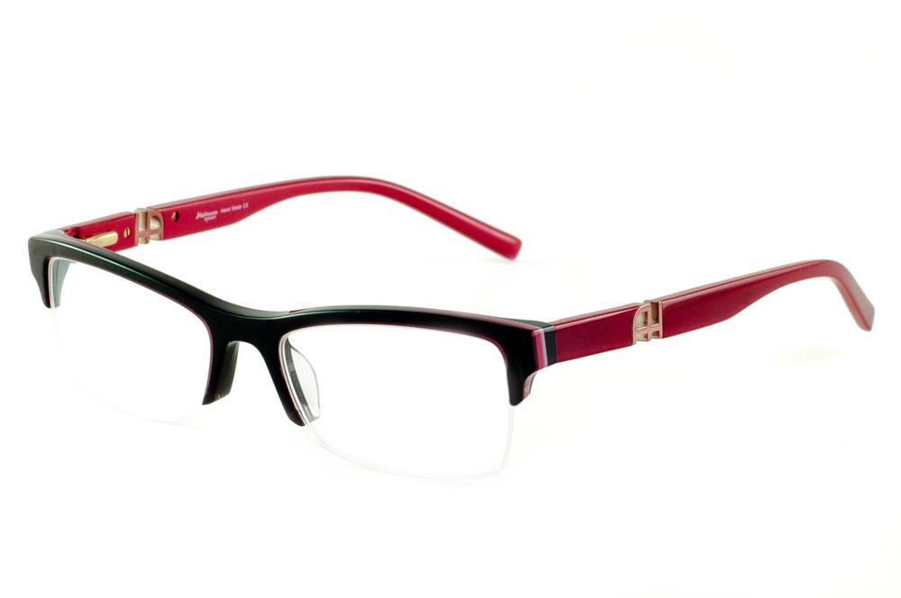 Óculos Ana Hickmann AH6209 preto haste vermelha vinho 632dd70d57