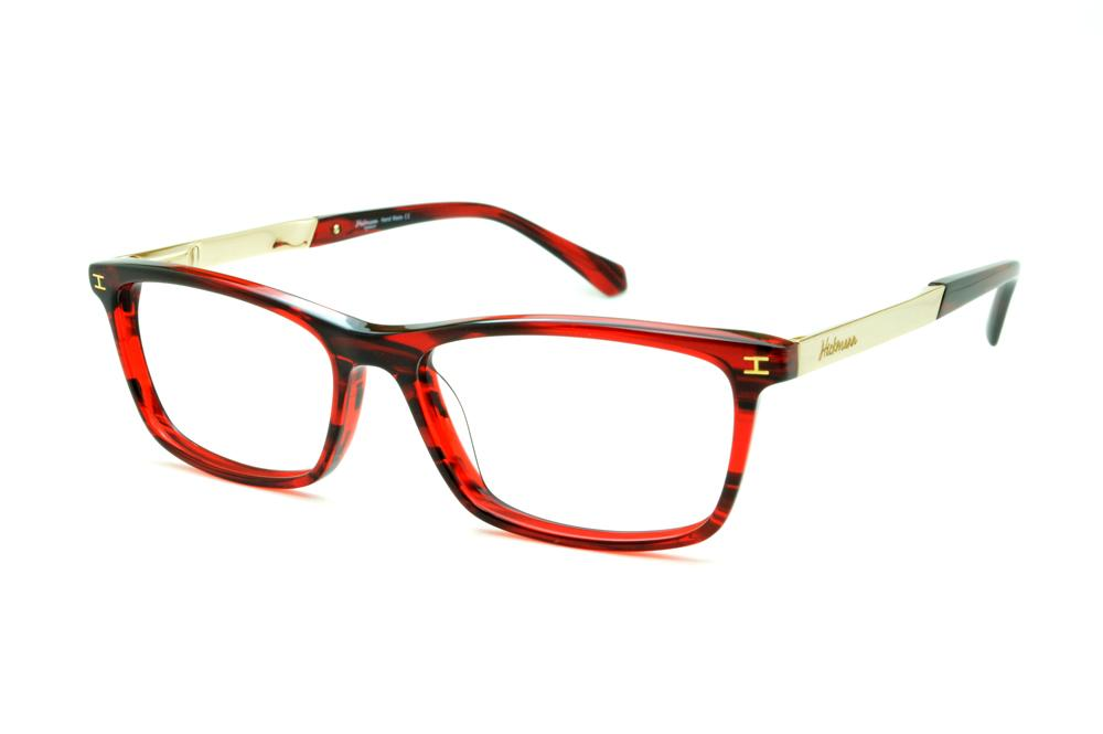 31f562a3dfd77 Óculos Ana Hickmann HI6015 vermelha efeito estampa haste dourada
