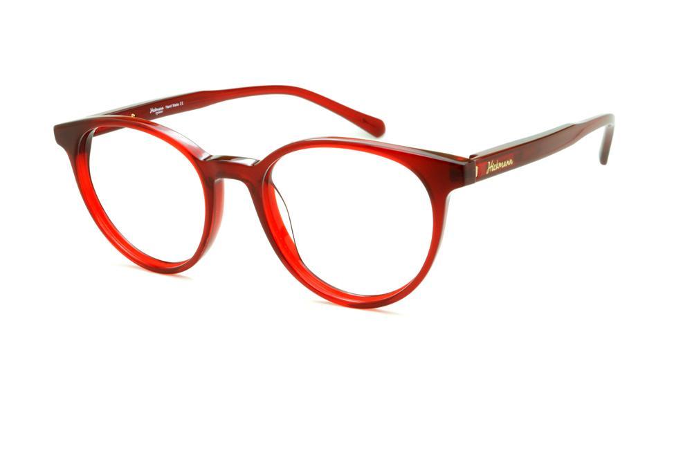 Óculos Ana Hickmann HI6018 redondo vermelho 30a7df5c50