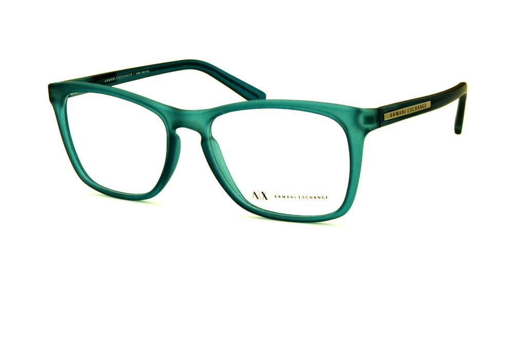 Óculos Armani Exchange AX3012 azul fosco detalhe prata ceef2e8b2a