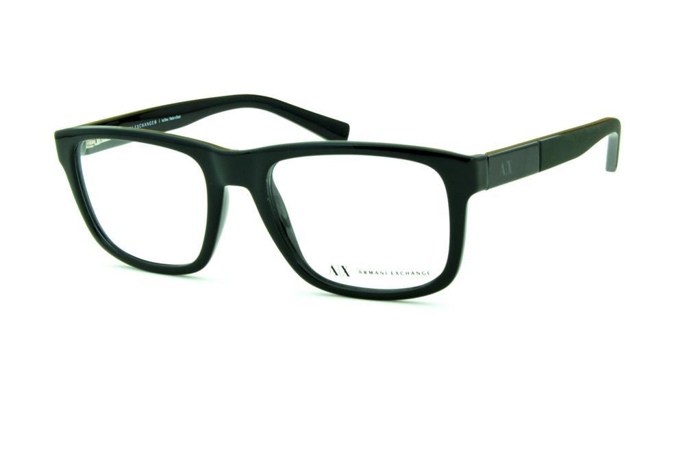 216ffbf38e576 Óculos Armani Exchange AX 3025 preto e haste cinza