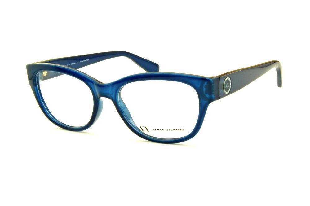 896ac92e69b4d Óculos Armani Exchange AX 3026 azul oval modelo gatinho