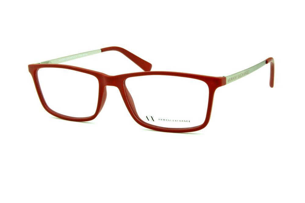 82e08219473ba Óculos Armani Exchange AX 3027 vermelho fosco haste prata