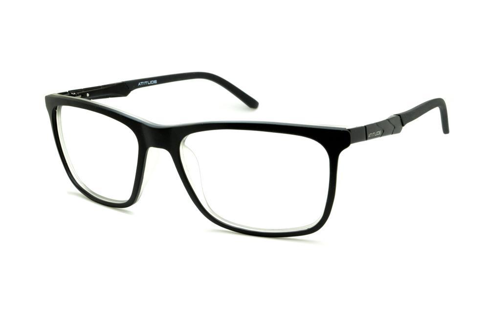 cfe24f491 Óculos Atitude AT4000 preto fosco e transparente