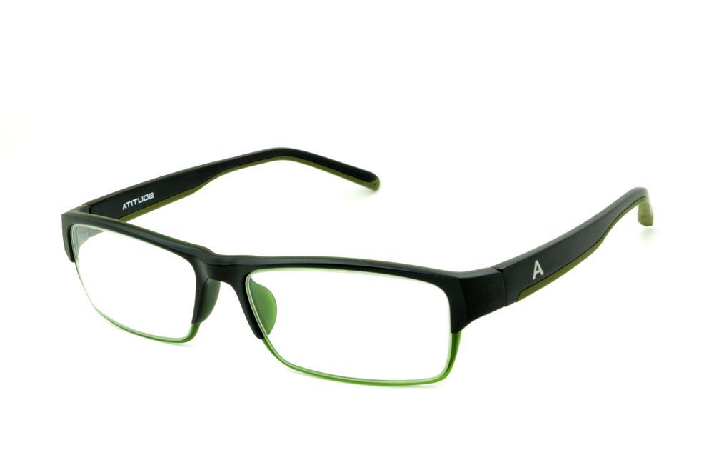 ca8dca4dade57 Óculos Atitude AT4007 TR90 preto detalhe verde musgo