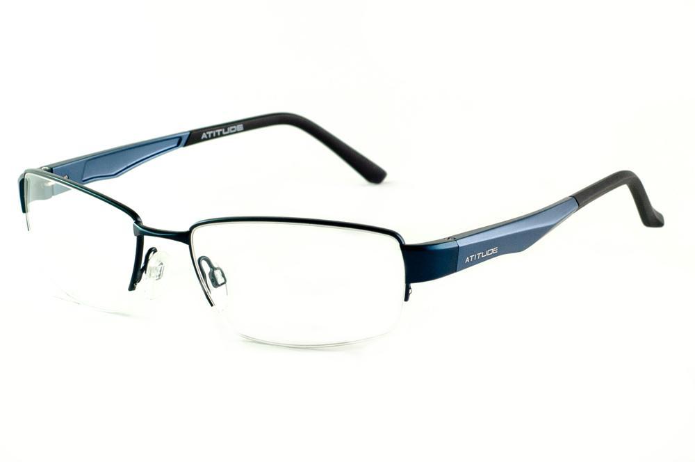 819e4cfa41837 Óculos Atitude AT1532 azul marinho haste azul preto