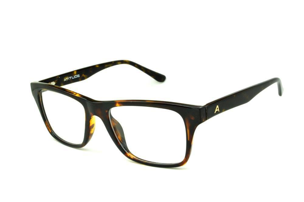 9bdb47a10616e Óculos Atitude AT4005 cor demi tartaruga efeito onça