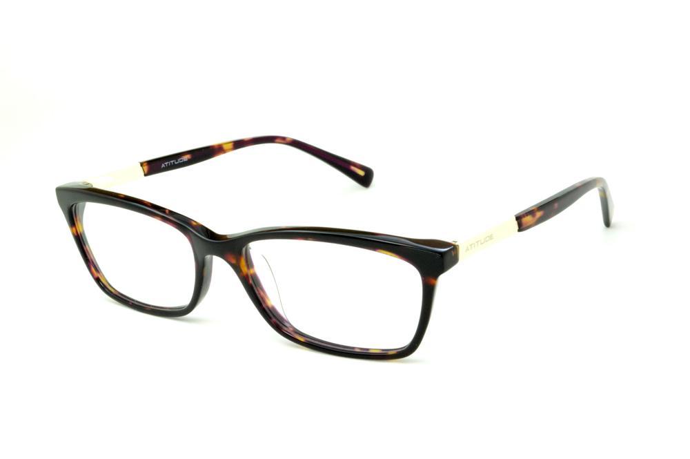 3809aba5c9e35 Óculos Atitude AT6116 cor demi tartaruga efeito onça