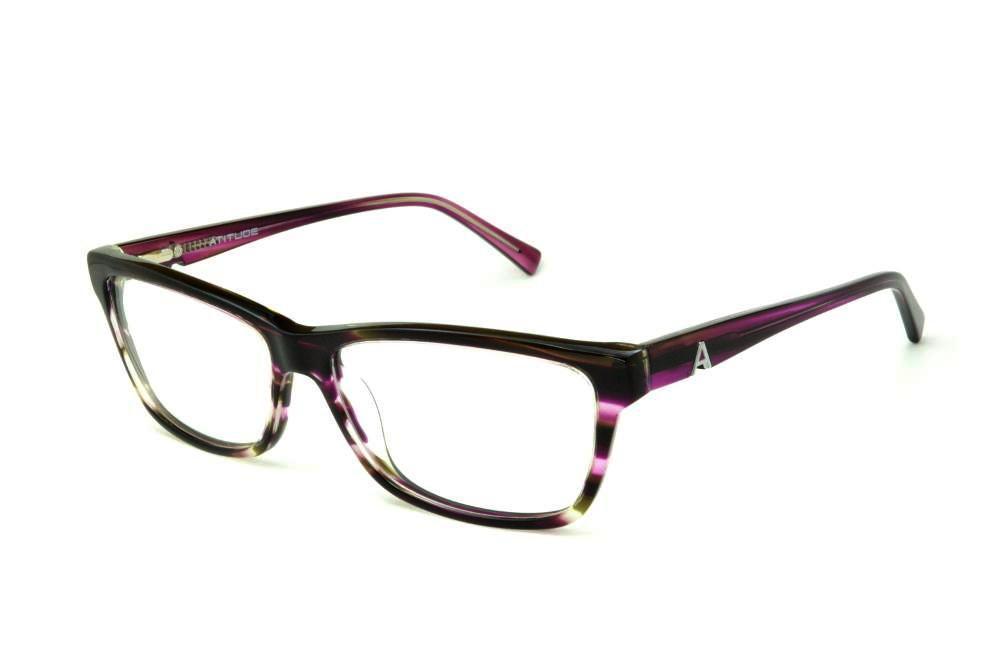 Óculos Atitude AT6130 acetato preto roxo marrom mesclado d0cd85f7a0