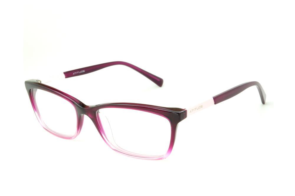 a84d585ab Óculos Atitude AT6116 roxo e pink mesclado detalhe rosa bebê