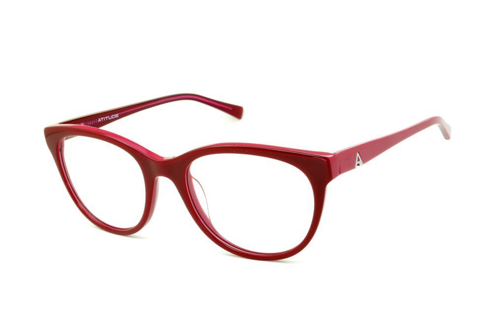 57171a483709d Óculos Atitude AT6133 vermelho queimado haste pink