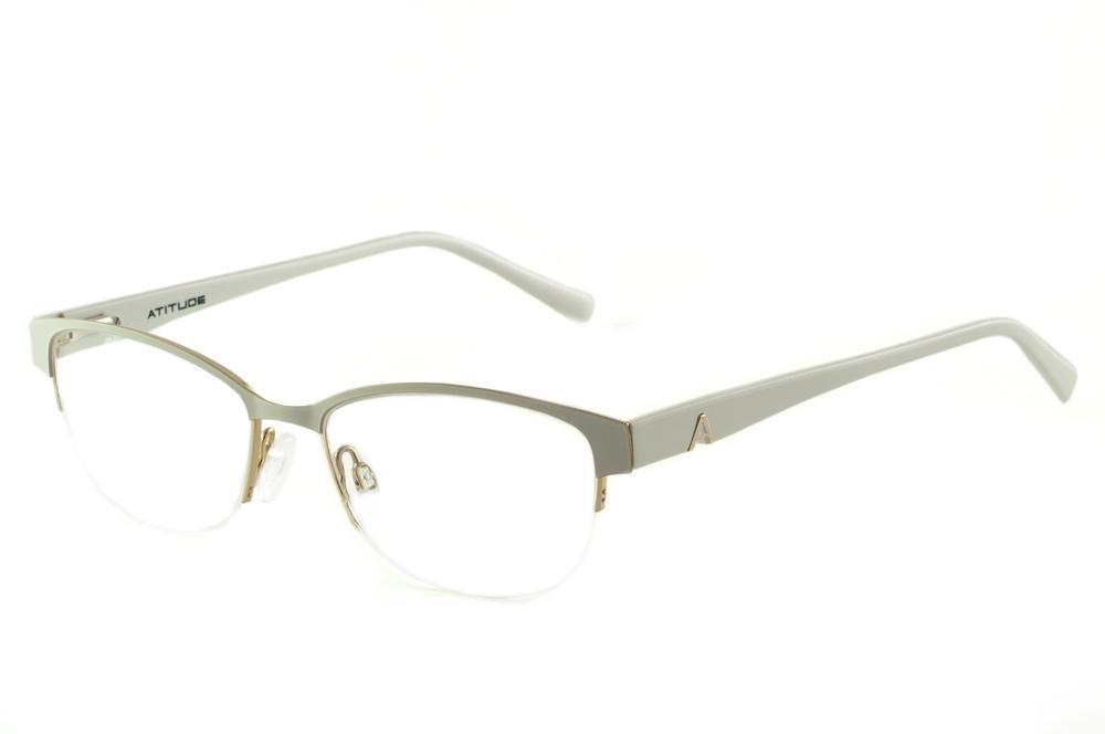 Óculos Atitude AT1547 estilo gatinho cinza e branco bbea6bceaa