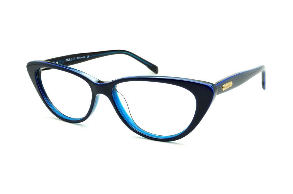 a7d13b912198a Óculos Bulget BG6166 azul haste flexível de mola