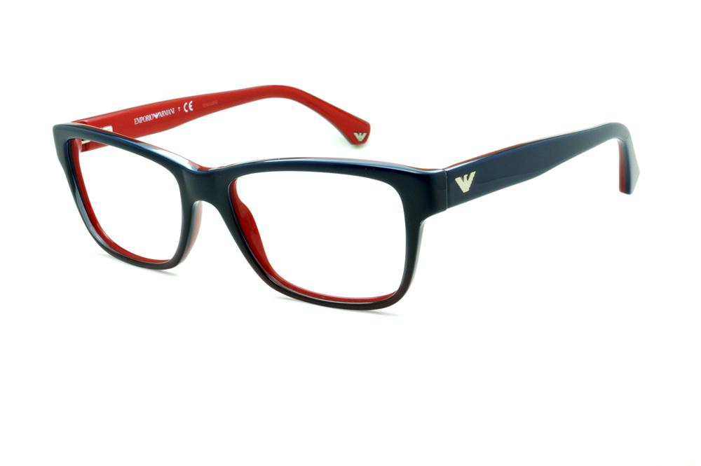 4e268e98f8dc9 Óculos Emporio Armani EA3051 azul degradê e vermelho