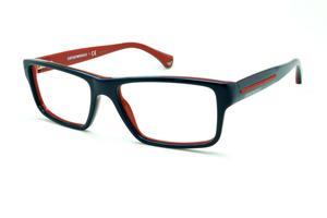 Óculos Emporio Armani EA3013 azul piano e vermelho em acetato com haste  flexível de mola 967d56efab