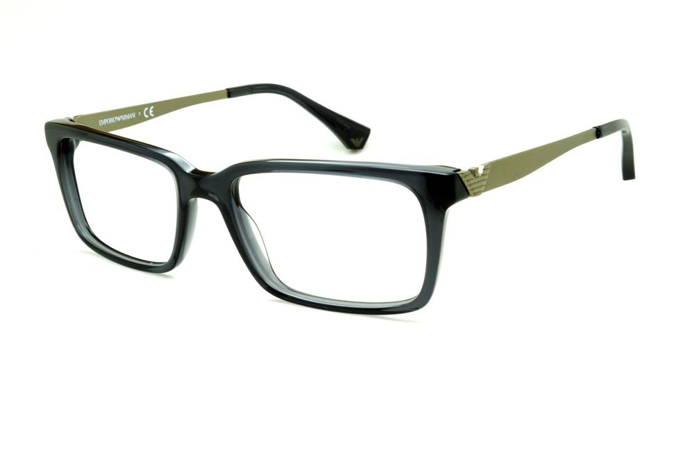 Óculos Emporio Armani EA3030 cinza haste em metal dourado opaco 577653a86f
