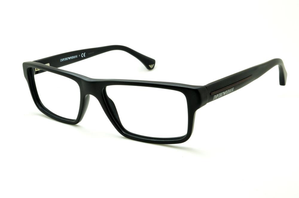 Óculos Emporio Armani EA3013 preto haste efeito borracha e62d93c0e4