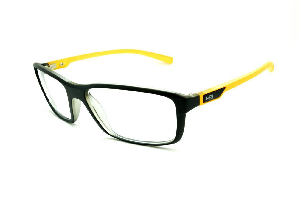 Óculos HB Black Mango - Acetato preto fosco e amarelo manga ca51242013