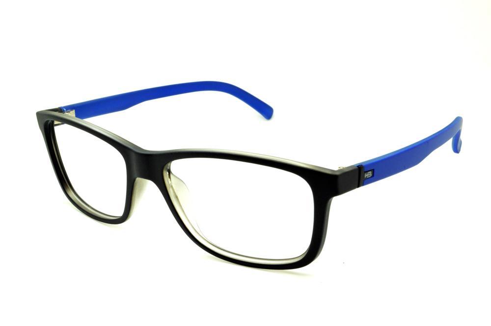 72c66c1a3be88 Óculos HB Black Matte Blue preto fosco haste azul