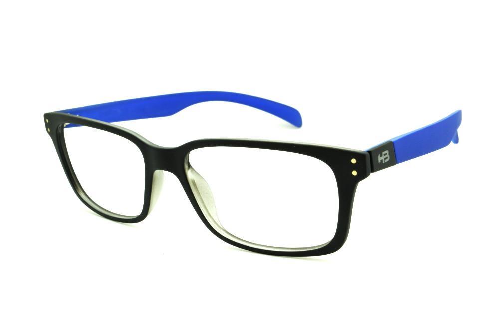 Óculos HB M93 105 Black Matte Blue Aerotech preto fosco haste azul fbf7aec5b7