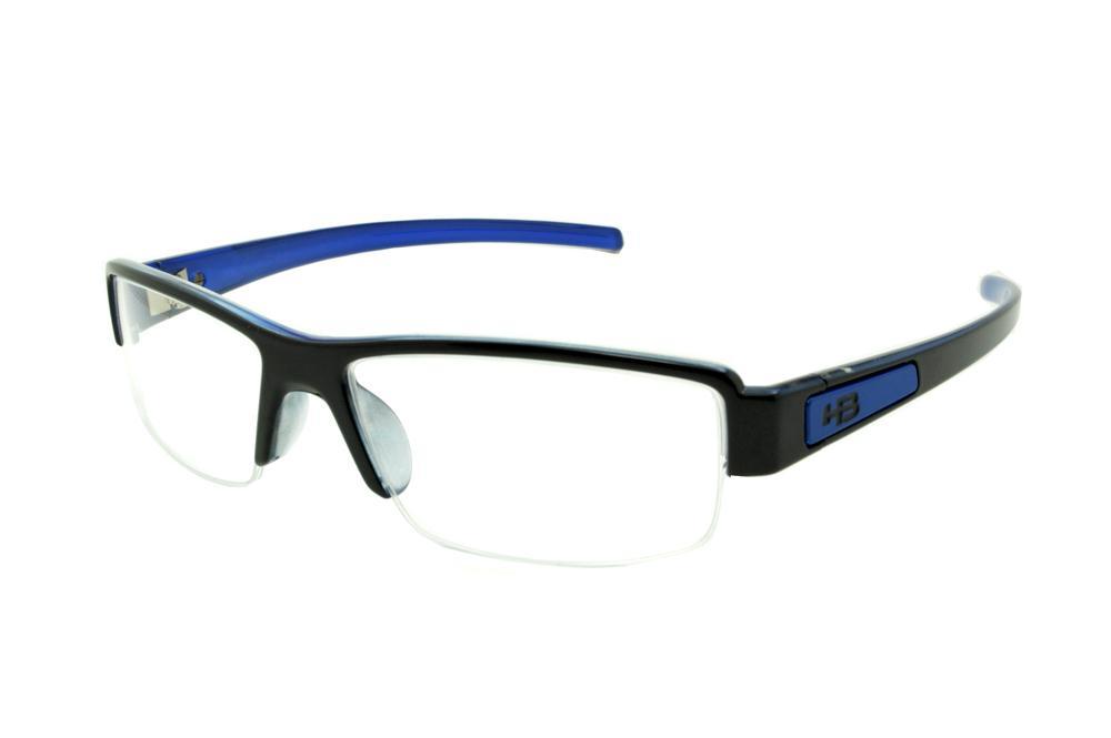 b7685818688f4 Óculos HB Black On Blue preto brilhante e azul e fio de nylon