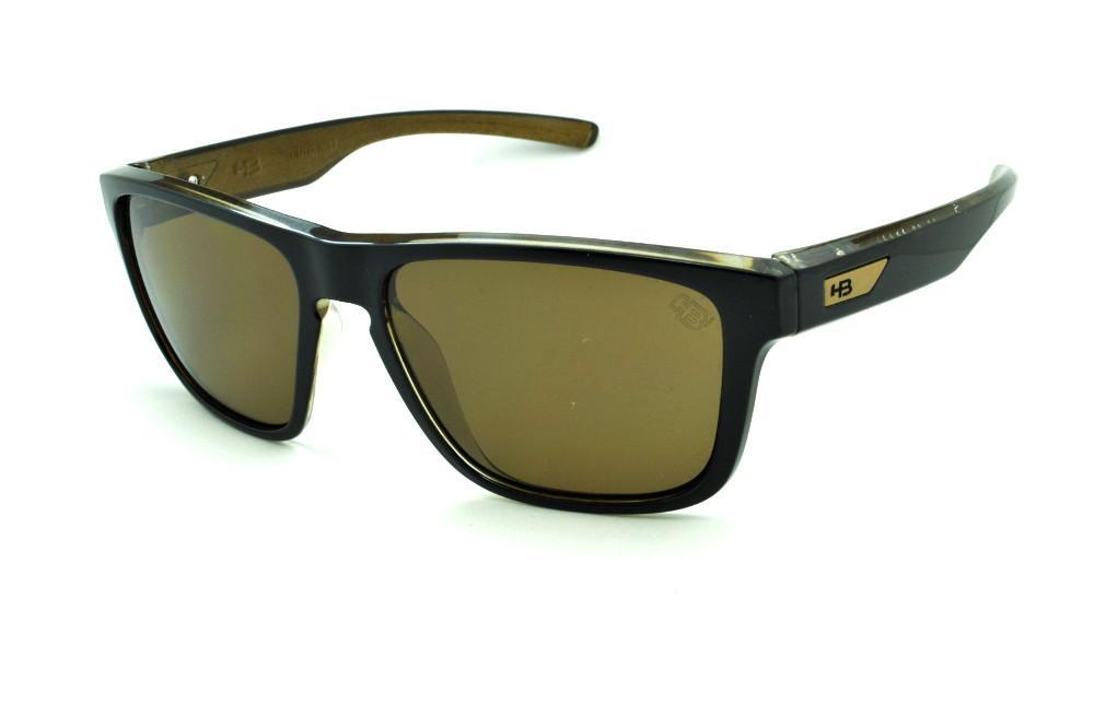 3295970a5413c Óculos HB H-BOMB Black Gold preto e marrom emblema dourado e lente marrom