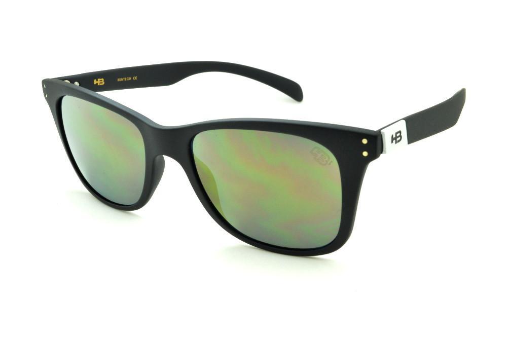 Óculos HB Land Shark 2 Miguel Pupo preto fosco e lente dourada f184d8472e