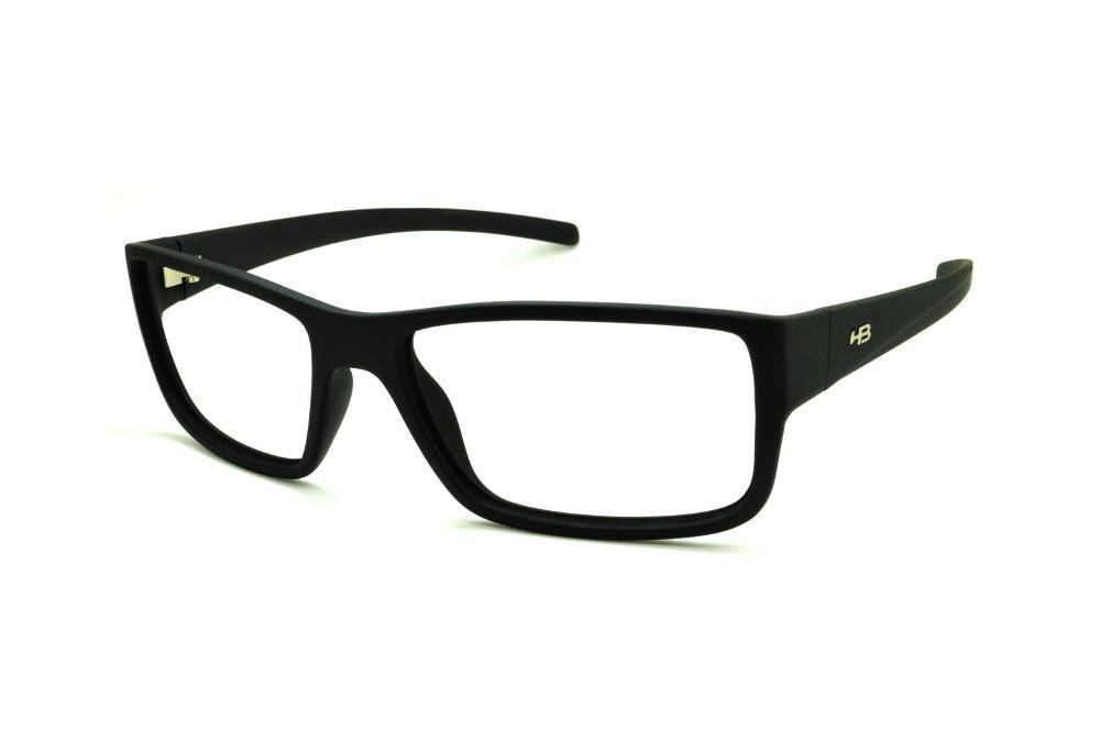 ed69d9544630f Óculos HB Matte Black preto fosco e detalhe metal