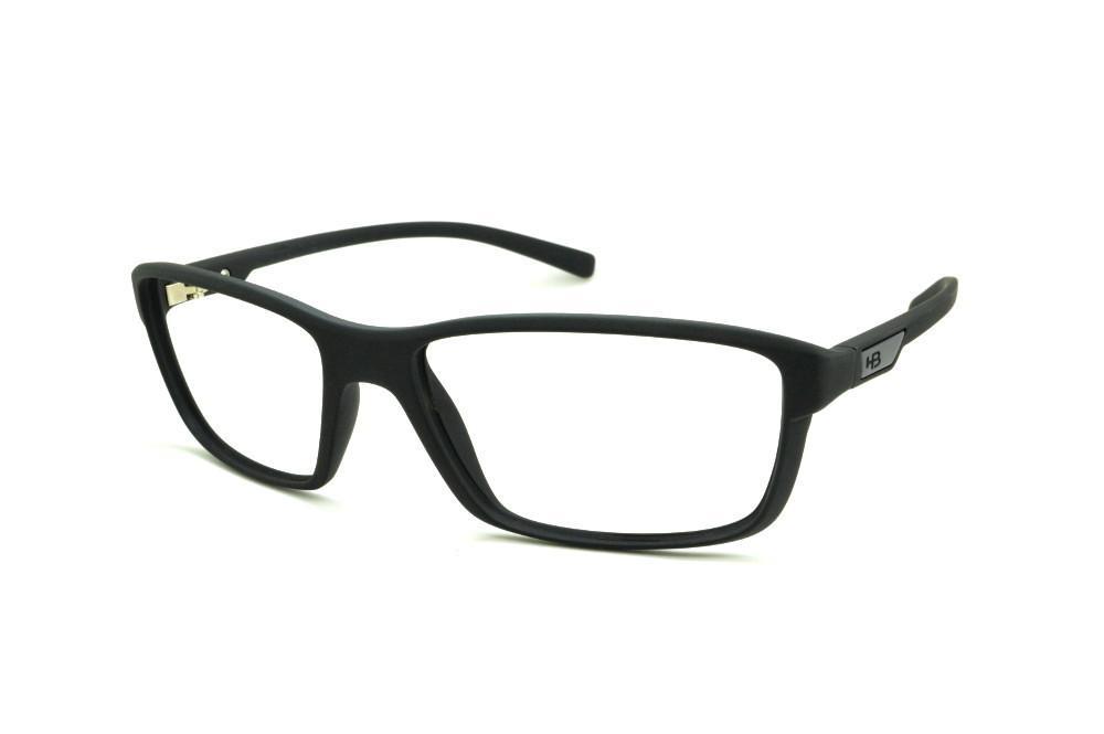 Óculos HB Matte Black preto fosco e detalhe metal e detalhe cinza 0b1e31156f