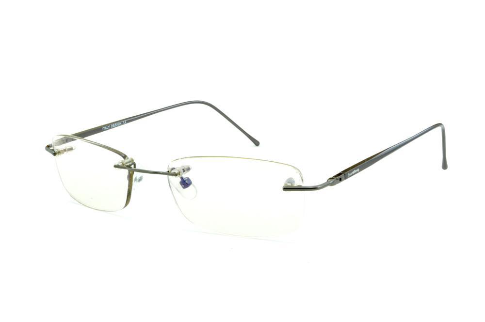 923d511fb Óculos Ilusion cor prata silver modelo parafusado com haste flexível de mola