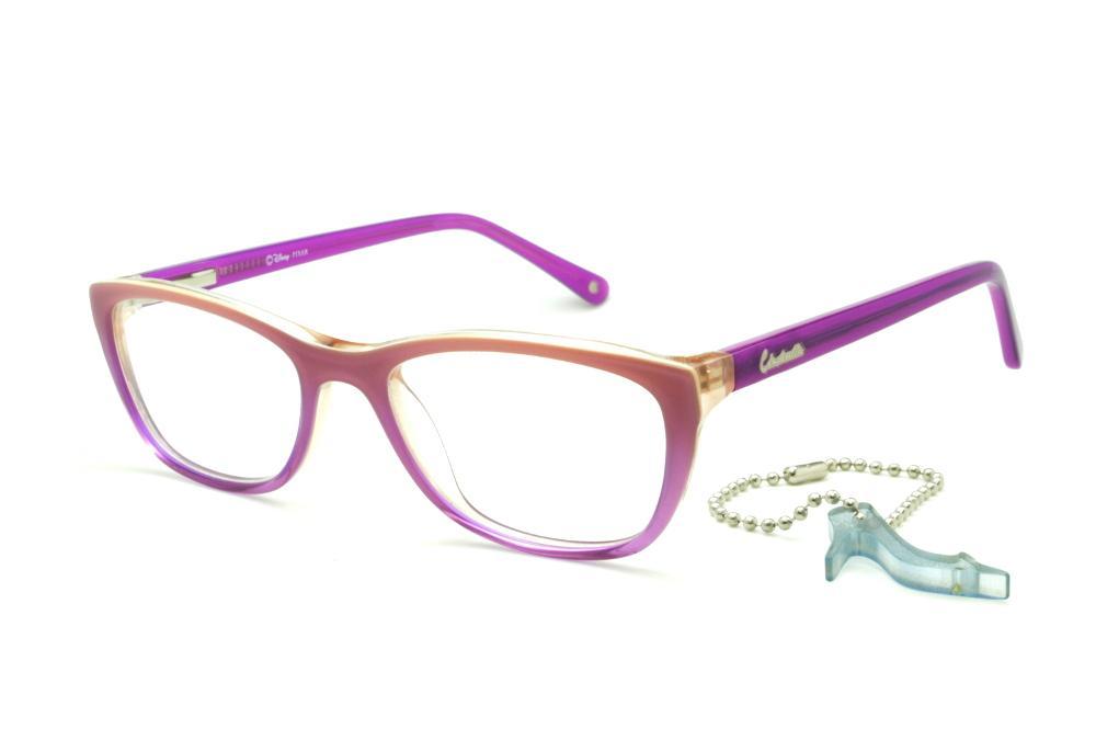Óculos Disney Princesa roxo laranja claro mesclado haste roxa feb5832128