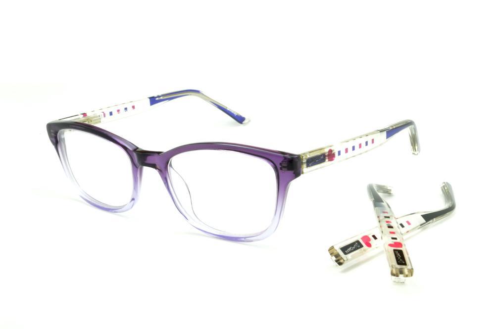 286a1eda55a1e Óculos Disney acetato roxo mesclado haste transparente roxa preta