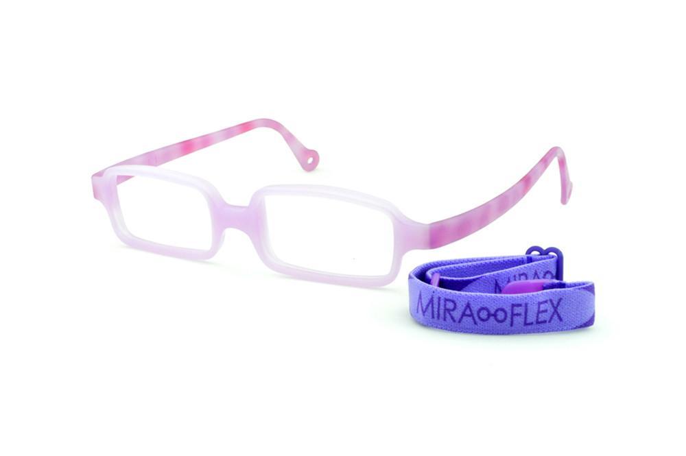 6ef284323 Óculos Infantil Miraflex Lilás em silicone INQUEBRÁVEL New Baby 1 39/14 (de  1 a 4 anos)