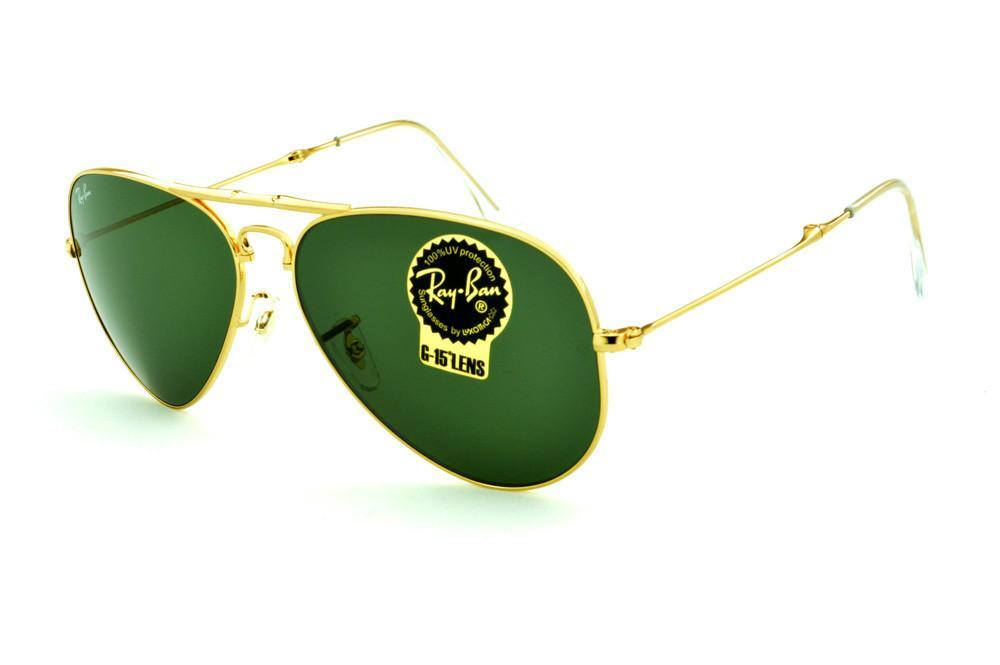 47a42565f87da Óculos Ray-Ban Aviador RB3479 dourado modelo dobrável lente verde G15  tamanho 58