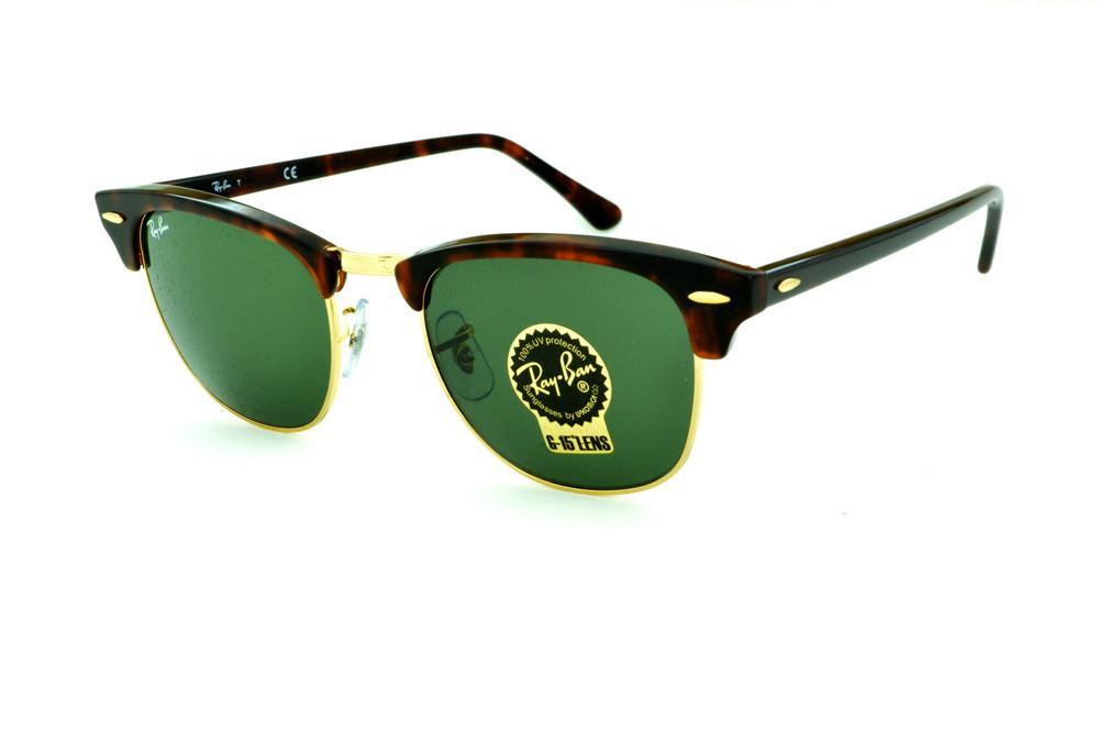 b426519c4292b Óculos Ray-Ban Clubmaster RB3016 efeito onça e dourado lente G15