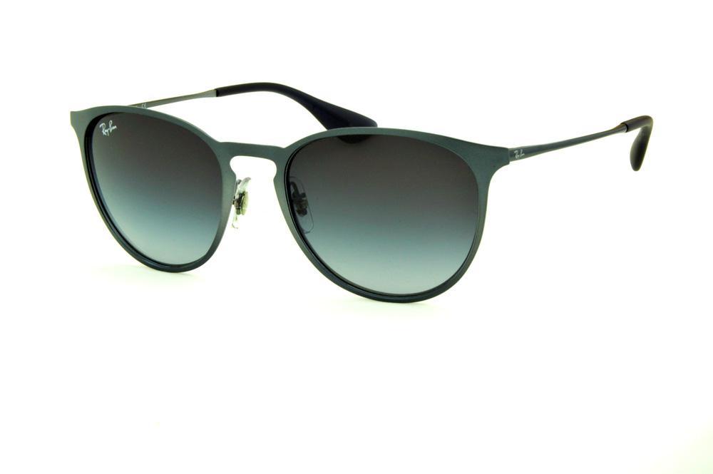 a2d92f5a7 Óculos Ray-Ban Erika Metal RB3539 cinza lente degradê