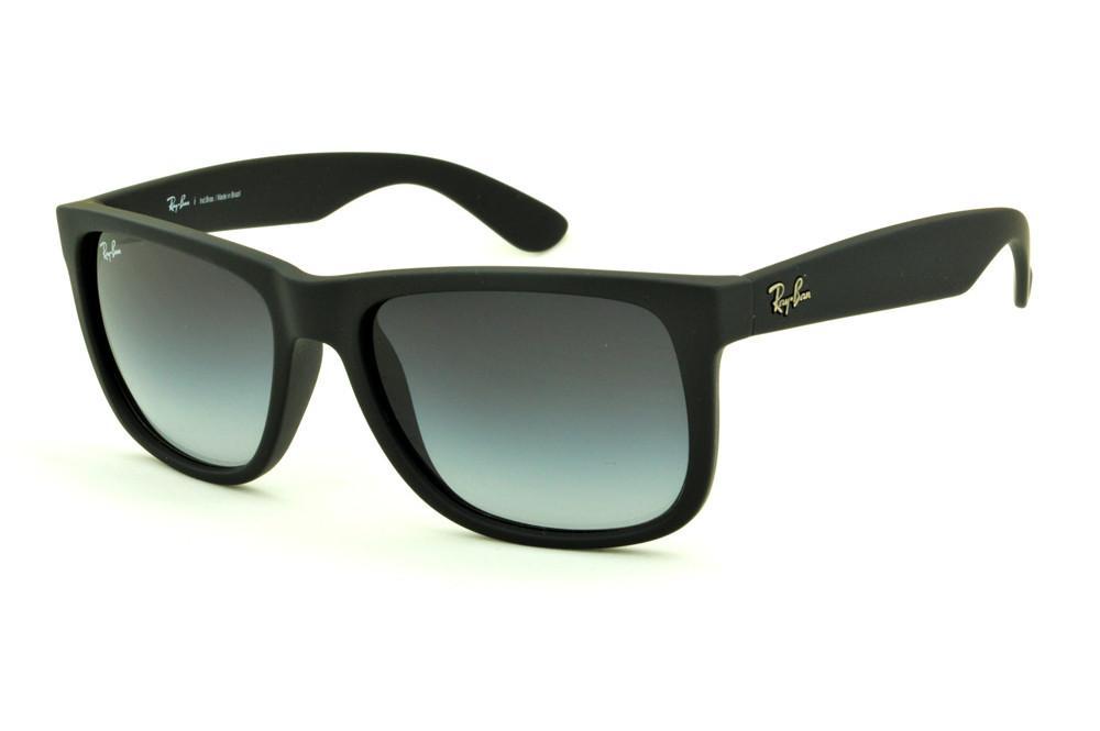 fa5ab4b21620d Óculos Ray-Ban Justin RB4165 Preto fosco lente degradê