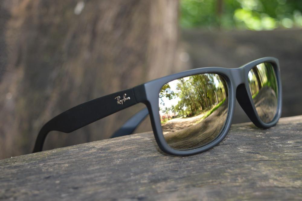 ... netherlands Óculos ray ban justin rb4165 preto lente semi espelhada  dourada 82305 270f1 69d3c88ac3