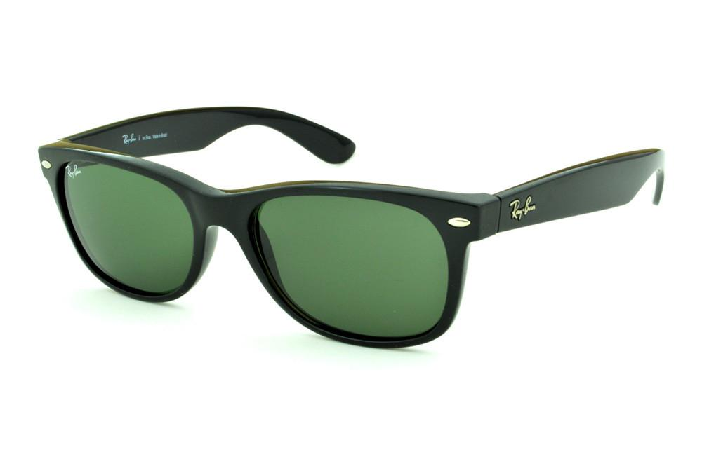 bdc257025a5ff Óculos Ray-Ban New Wayfarer RB2132 Preto lente verde