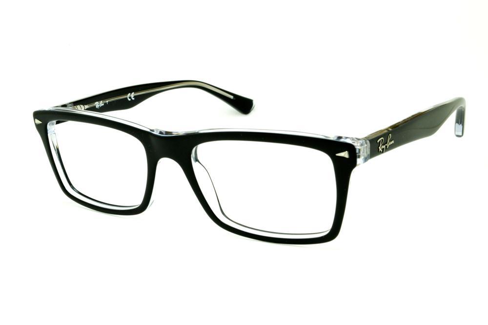 Óculos Ray-Ban RB5287 Preto e Transparente haste flexível de mola 5332d4dbab