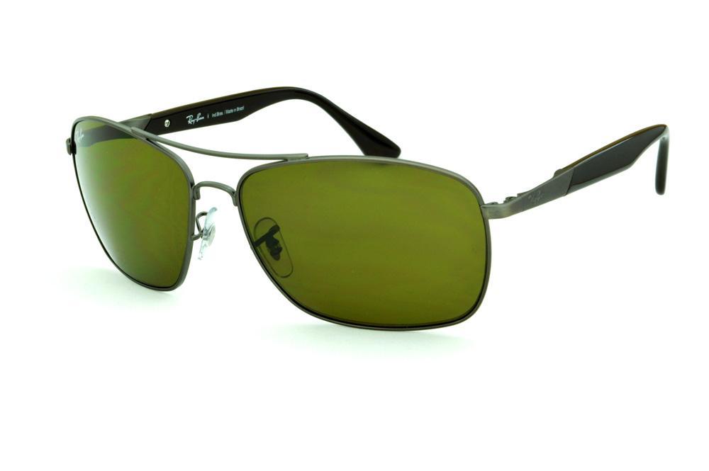 a55cff9d92a80 Óculos Ray-Ban RB3531 de sol cinza silver haste marrom
