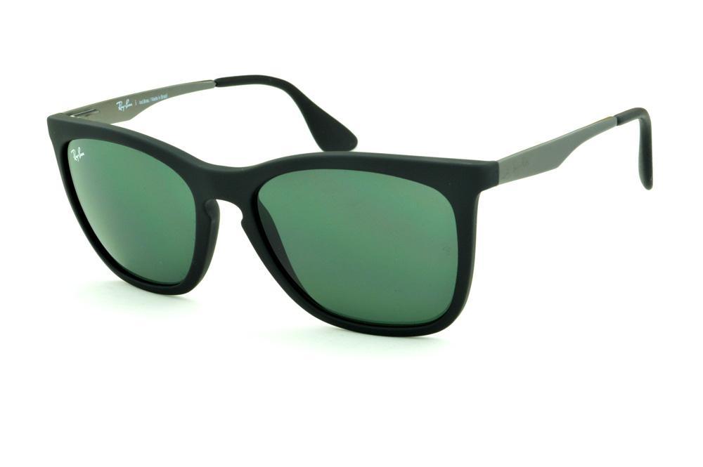 Óculos Ray-Ban RB4238 Preto lente verde haste cinza 950717654d